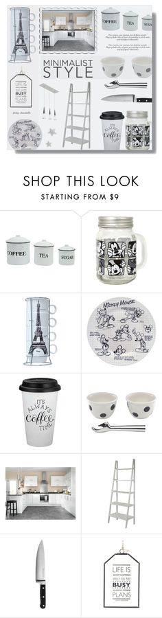 """""""Minimalist Makeover - Kitchen: 01/02/17"""" by pinky-chocolatte ❤ liked on Polyvore featuring interior, interiors, interior design, home, home decor, interior decorating, Disney, Kate Spade, KitchenAid and Parlane"""