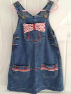 Denim    BABY BLUES 'Shiny' Pinafore dress. £15.00