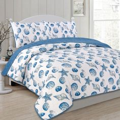 You'll love the Sea Shells 100% Cotton 3 Piece Reversible Quilt Set at Wayfair - Great Deals on all Bed & Bath products with Free Shipping on most stuff, even the big stuff.