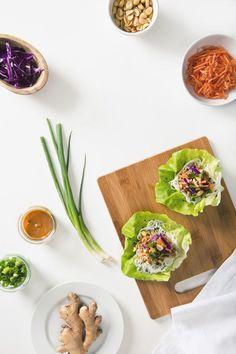 Vegan Thai Lettuce Wraps with Peanut Sauce (Gluten-Free Option) | picklesnhoney.com: