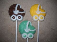 1 chocolate baby shower cloud sheep carriage molded lollipop lollipops | sapphirechocolates - Edibles on ArtFire