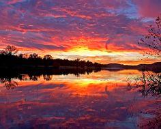 Sunset over Lake Ludwig, Johnson County, Arkansas