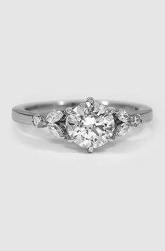 Platinum Verbena Diamond Ring