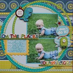 love the overlapping circles...Good title for first steps or crawling pics