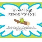 "This is a DIBELS ""Nonsense Word"" (NWF) sort activity.  Students sort the frogs onto ""Real"" and ""Nonsense""logs and then record their answers onto a ..."