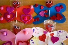 Butterfly Lollipop Valentines kids can make!
