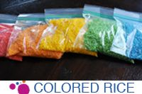 How To Make Colored Rice - Dose of Happy