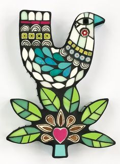 White Winter Bird by Amanda Anderson