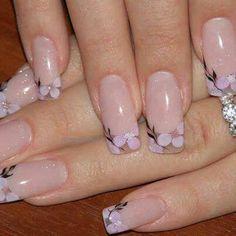 35 Simple Ideas for Wedding Nails Design Cute Nail Art, Beautiful Nail Art, Cute Nails, Pretty Nails, Beautiful Flowers, Fancy Nails, Diy Nails, Shellac Nails, Gel Nail