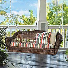 Saybrooke Resin Wicker Porch Swing