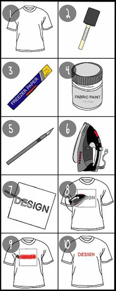 Know and Tell Crafts: MAKE YOUR OWN T-SHIRTS!