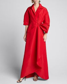 Shop Carolina Herrera at Bergdorf Goodman. Find sophisticated women's ready-to-wear and eveningwear. Gowns With Sleeves, Half Sleeves, Bergdorf Goodman, Carolina Herrera, Ladies Day Dresses, Milan Fashion Weeks, London Fashion, Jacket Dress, Missoni