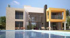 Oceanfront villa with a pool in Boa Vista, Cape Verde.