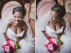 luxury wedding nashville riverwood mansion, beautiful african american bride, interracial marriage, pink, blue http://beautifulbrownbride.blogspot.com/