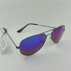 Aviator style Unisex sunglasses Aviator style Unisex sunglasses Blacm frame purple mirror lens 58mm Accessories Sunglasses