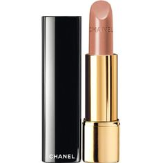 CHANEL ROUGE ALLURE Luminous Satin Lip Colour ($32) ❤ liked on Polyvore featuring beauty products, makeup, lip makeup, lipstick, beauty, make, chanel lipstick, pencil lipstick, long wear lipstick and chanel