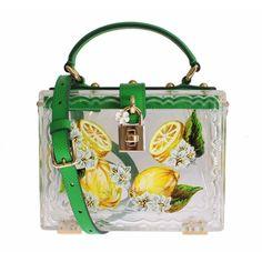 82a2b9637321 Dolce   Gabbana Plexi Lemon Motive Painted Hand Shoulder Bag Dolce Gabbana  Online