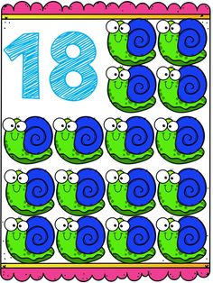 Tarjetas para trabajar los números del 1 al 20 Alphabet Activities, Preschool Activities, Numbers Preschool, School Colors, Classroom Decor, Phonics, Kids And Parenting, Ladybug, Diy And Crafts