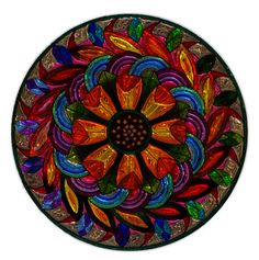Mandala, Metallizer, Art, Glass