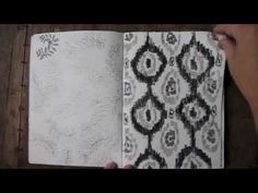 80 Pages of Patterns;  a 2 minute video of one of my sketchbooks  (mary jo hoffman)