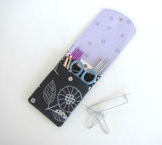 Knitting Needle Case Crochet Hooks Holder Notions by OvationStudio
