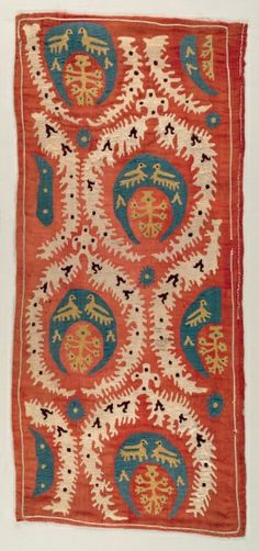 Embroidered Cushion Cover, Turkey, 18th century