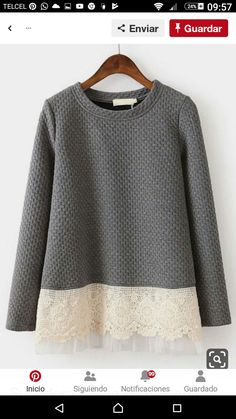 Grey Pattern, Grey Sweatshirt, Color Blocking, Fashion News, Contrast, Pullover, Sweaters, Cardigans, Clothes For Women