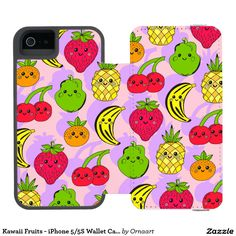 Kawaii Fruits - iPhone 5/5S Wallet Case Incipio Watson™ iPhone 5 Wallet Case