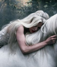 White horse and princess.