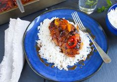 SPANSK KYLLING MED RIS Grains, Curry, Rice, Favorite Recipes, Food, Olives, Curries, Essen, Meals