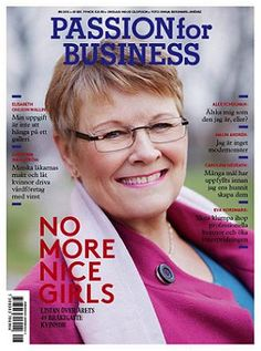 Magazine Cover - Passion for Business (nr 8 2012) Sweden - Maud Olofsson