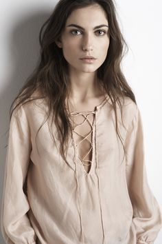Love this soft color Washed Silk Front-Tie Blouse by Graham & Spencer Vogue, Pinterest Fashion, Fashion Beauty, Womens Fashion, Tie Blouse, What To Wear, Style Me, Style Inspiration, Character Inspiration