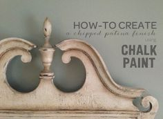 Creating a Chipped Patina Finish | furniture {reincarnated} /GREAT tutorial for an authentic aged look!