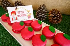 Red velvet macarons from a Little Red Riding Hood Birthday Party on Kara's Party Ideas | KarasPartyIdeas.com (8)