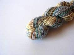 Handspun Navajo Ply Merino Yarn Hand Dyed Rock by TailsandSnouts, $22.00