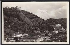 Brazil-Santos-Panorama Visto Da Matriz-Vintage-Real Photo Postcard | eBay