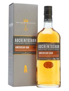 Auchentoshan American Oak was introduced in 2014 to replace the Classic. Matured exclusively in first-fill bourbon casks, this is a vanilla-rich and fruity whisky.