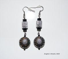 Ohrhänger in Schwarz - Silber von Angela`s Kreativ Welt auf DaWanda.com