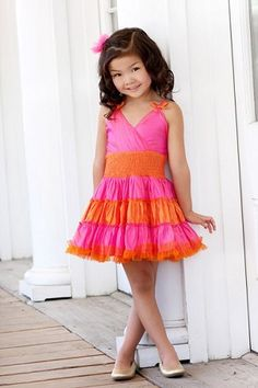 Fun dress for a little girl's photo session...$80  Ooh! La, La! Couture Pink Hamptons Dress