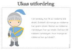 frk linn: ukas utfordring Teaching Math, Maths, Word Problems, Norway, Children, Kids, Family Guy, Teacher, Classroom