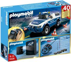 Playmobil City Action 5528 RC 40th Anniversary Police Truck with Camera Set: Amazon.co.uk: Toys & Games