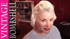 Watch how she curls the hair. I have been doing it wrong. Vintage Hair How-To | Blonde Bombshell