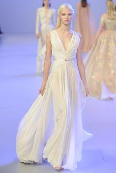 Like a Greek goddess, Elie Saab Couture Spring 2014 WWD.com
