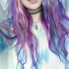 Pink purple rose colored hair