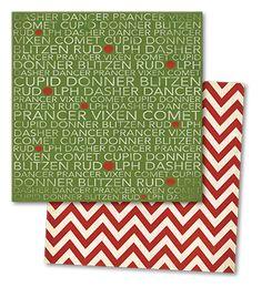 { my mind's eye } Sleigh Bells Ring Reindeer Names paper