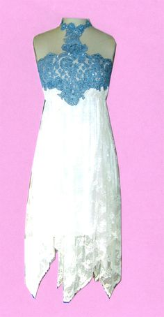 Informal Wedding, Special Occasion, Western Wedding, Denim and Laces Wedding Gowns