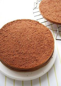 Moist Light Chocolate Sponge Cake