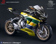 Mv Agusta F3 Senna 20th anniversary by SAMUXX.deviantart.com on @DeviantArt