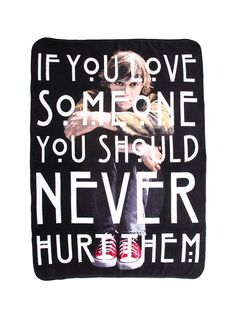 Comfy throw from <i>American Horror Story</i> with a Tate Langdon design......WANT THIS SOOOO BAD!!!!!