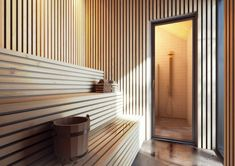 Idet fjällby - Kontur arkitektkontor Sauna Steam Room, Sauna Room, Basement Sauna, Modern Saunas, Portable Sauna, Jacuzzi, Spa Rooms, House Inside, Home Spa